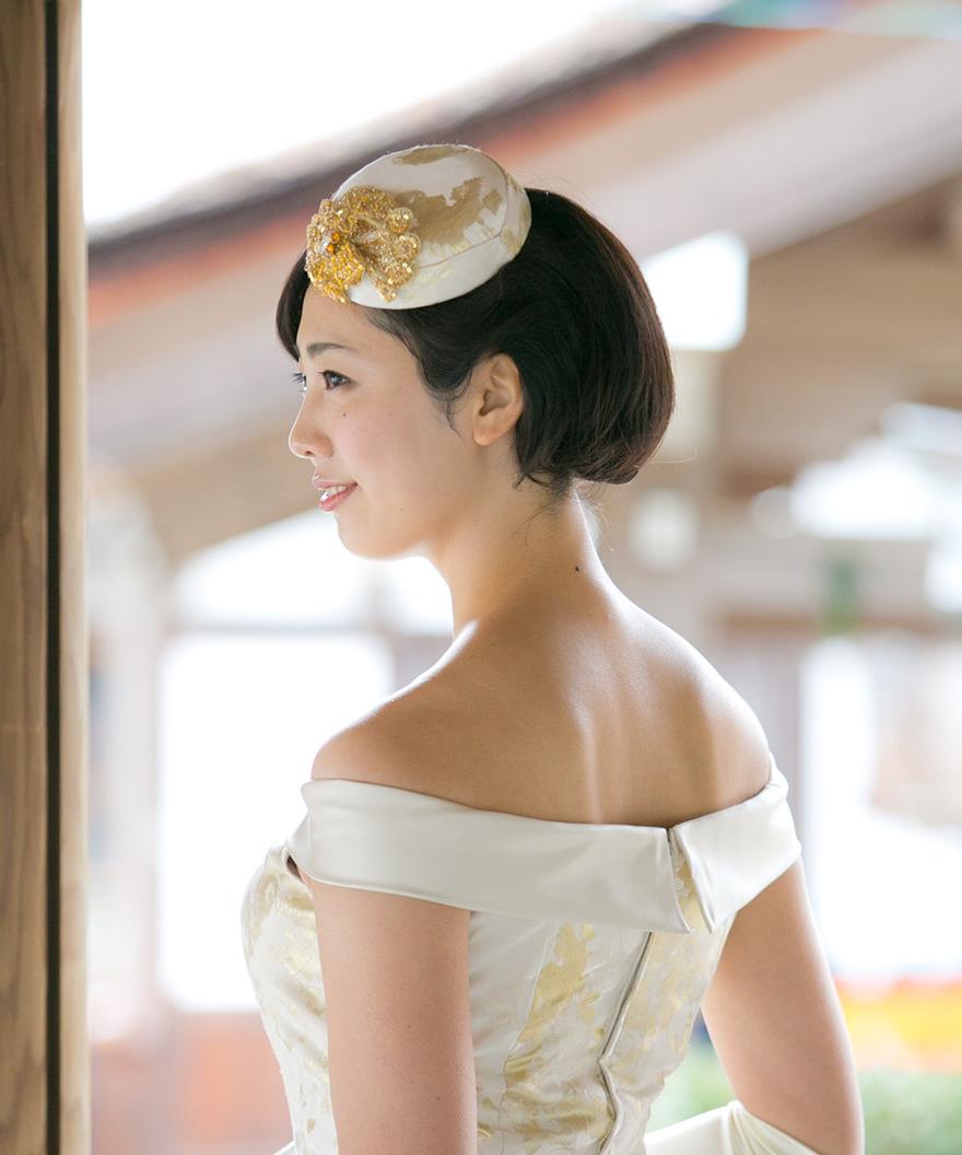 上賀茂神社正式婚礼衣裳 ローブ・デコルテ