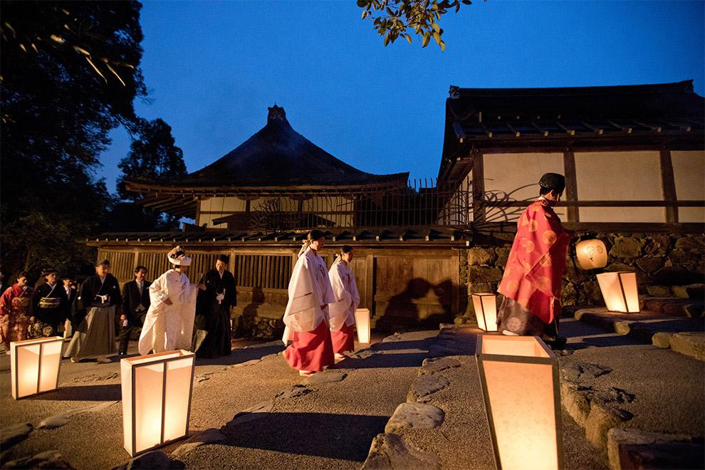 宵の結 - 本殿挙式の参進